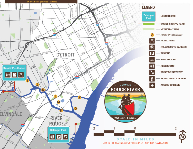 Rouge-River-Water-Trail-Map-eastern-section